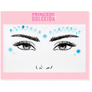 Princess By Dulceida Face Sticker Gemas Azul