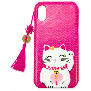 iPhone XS Cuki Cat Funda Para Móvil