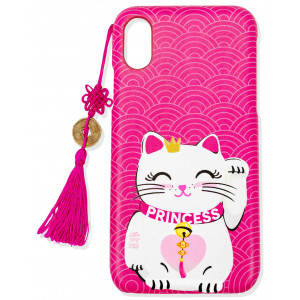 iPhone XS Max Cuki Cat Funda Para Móvil