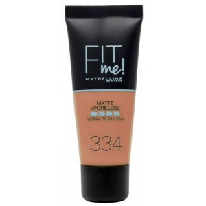 Fit Me Matte + Poreless Base de Maquillaje 334 Warm Tan
