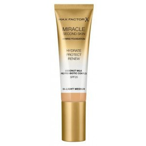Base de Maquillaje Miracle Second Skin Foundation 04 Light Medium