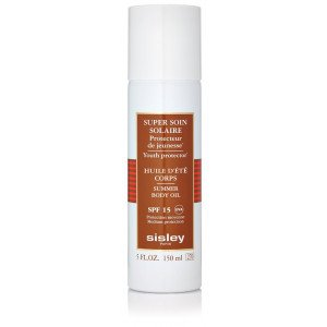 Aceite Corporal Super Soin Solaire Huile Soyeuse Corps SPF15