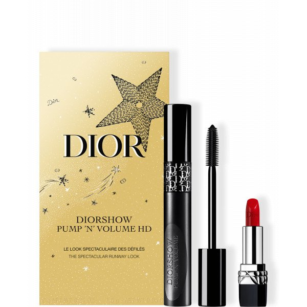 DIOR HOLIDAY COUTURE COLLECTION_Cofre máscara de pestañas y barra de labios - el look espectacular de los desfiles
