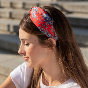 Oh My Hair Diadema Turbante Paisley Rojo