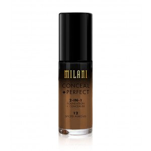 12 Spiced Almond Conceal + Perfect 2 en 1 Base de Maquillaje Chestnut