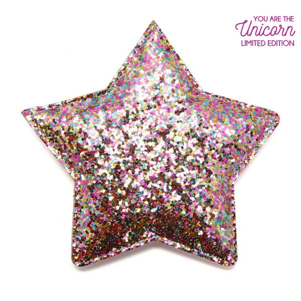 You Are The Unicorn Espejo Estrella Glitter Rosa