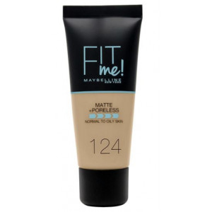 Fit Me Matte + Poreless Base de Maquillaje 124