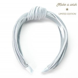 Make a Wish Diadema Turbante Velvet Gris