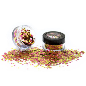 Glitter Facial Biodegradable rosa dorado
